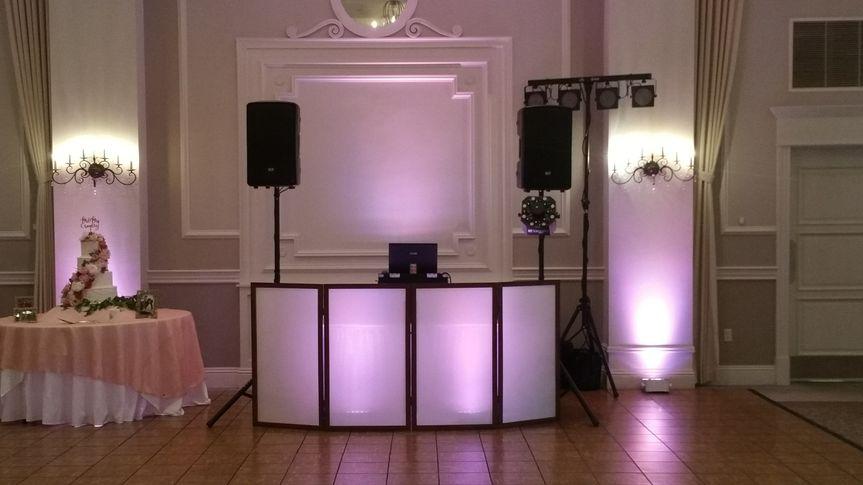 Blush uplight setup