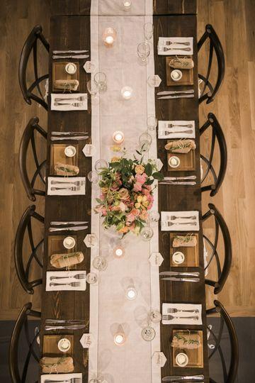 Table setting flat lay
