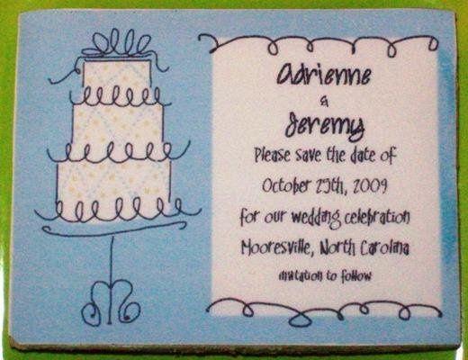 Tmx 1229954204947 Savethedatebluecake Mooresville wedding favor