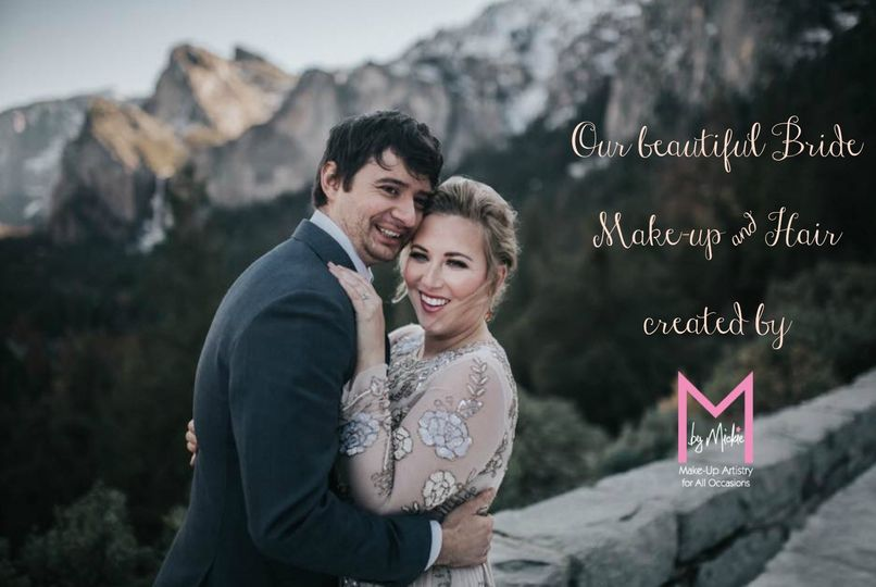 #mbymickie #Yosemiteweddings #destinationweddings #makeupandhair #beautyservices #mickiehanson...
