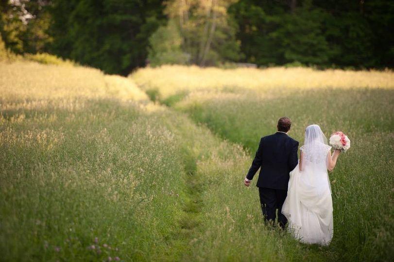 Walking couple portrait