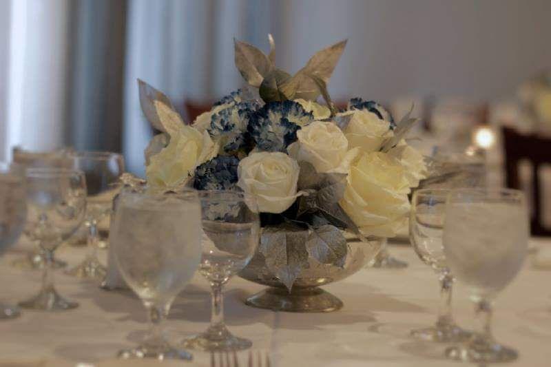 Communion silver white blue