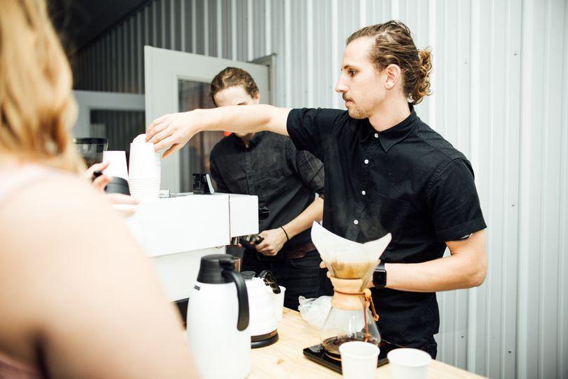 Grabbing a cup
