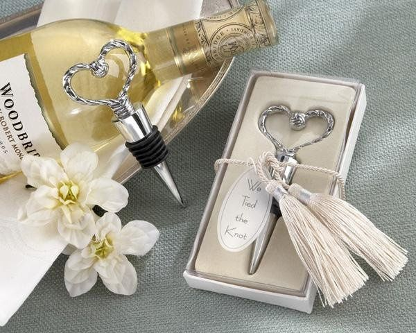We Tied the Knot Bottle Stoppers