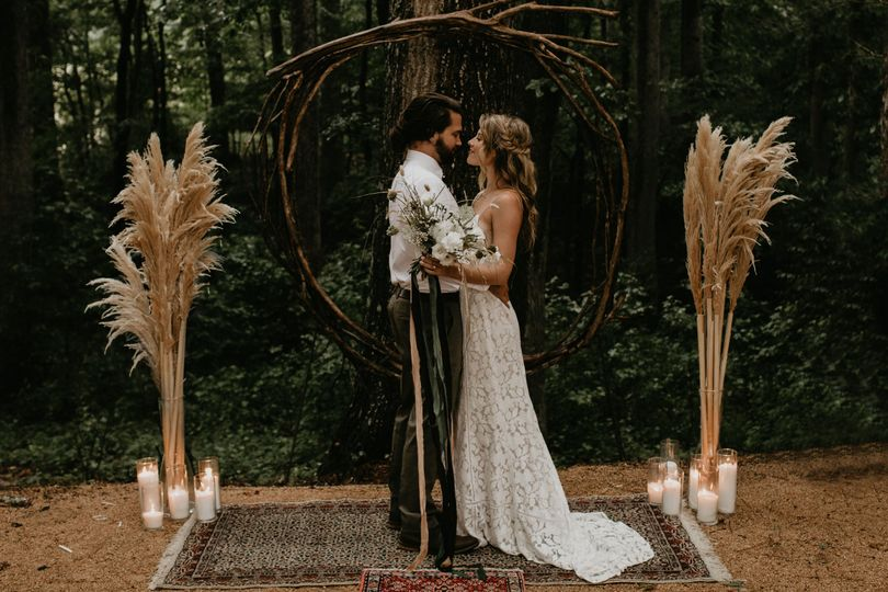 Beautiful styled ceremony at The Meadows, coordinated by The Gathering Co.