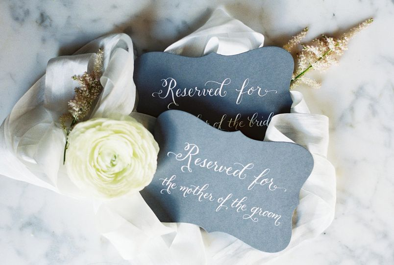 justwritestudios wedding calligraphy reserved sign