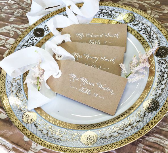 Just Write Studios Calligraphy Engraving Invitations