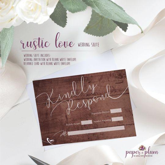 Rustic love rsvp