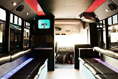 Uptown limo and party bus interior