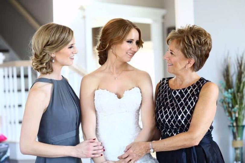 Bride with Sister and Mother