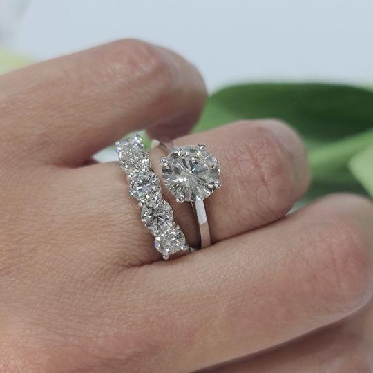 Diamond ring wedding set