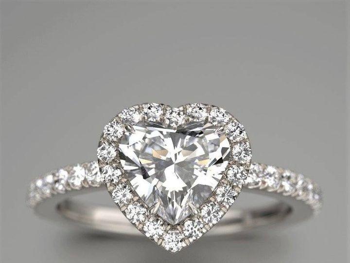 Tmx Heart Diamond Engagement Ring 51 1990255 160431477247847 New York, NY wedding jewelry