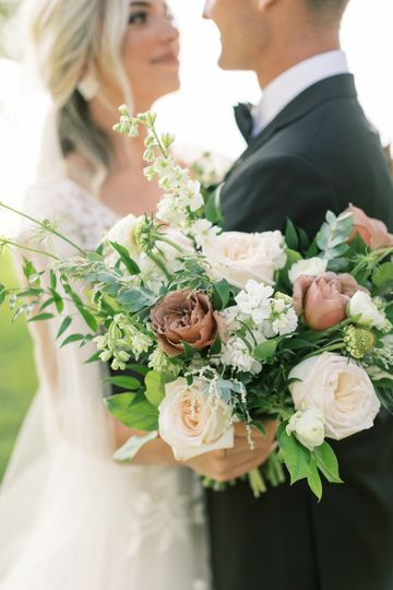Couple and the bouquet