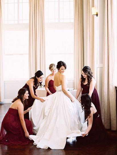 Fixing the dress