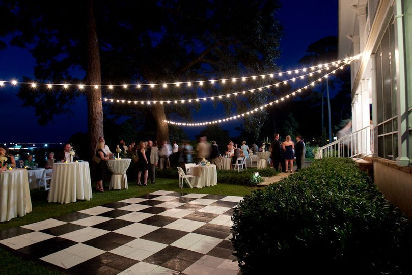 The dance floor in the backyard