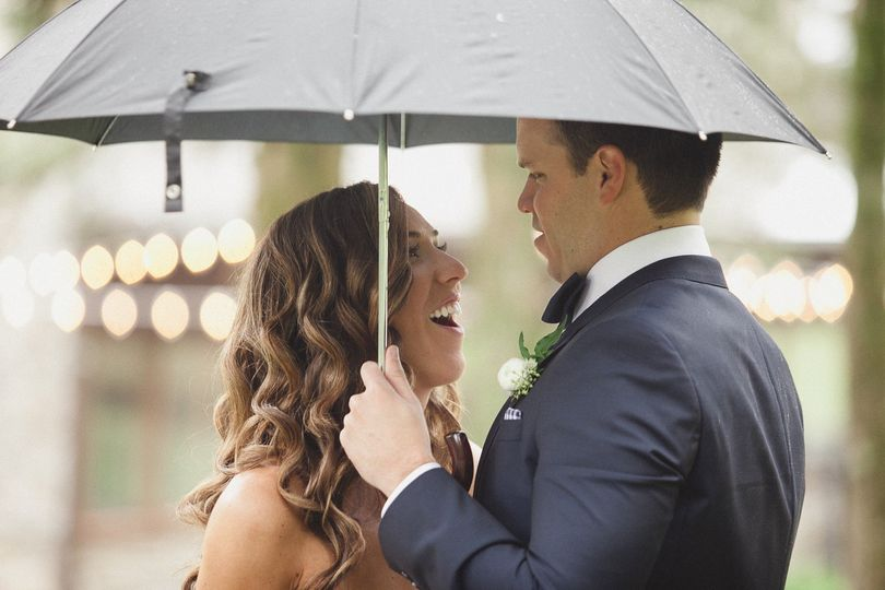 Laughing in the rain