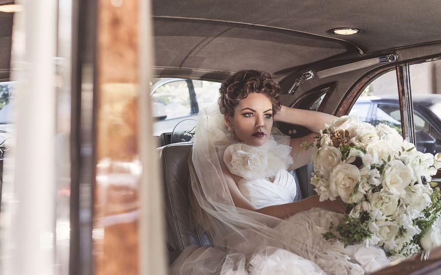 rolls royce bridal portrait langham hotel pasadena