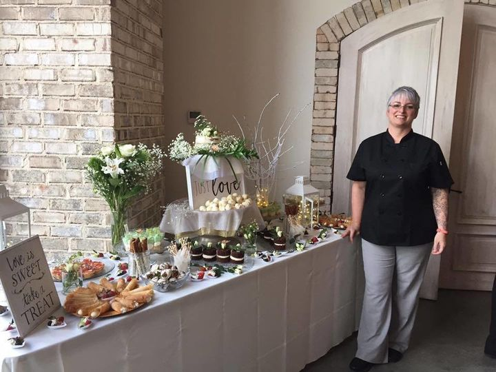 Dessert Table for wedding at Wrightsville Manor