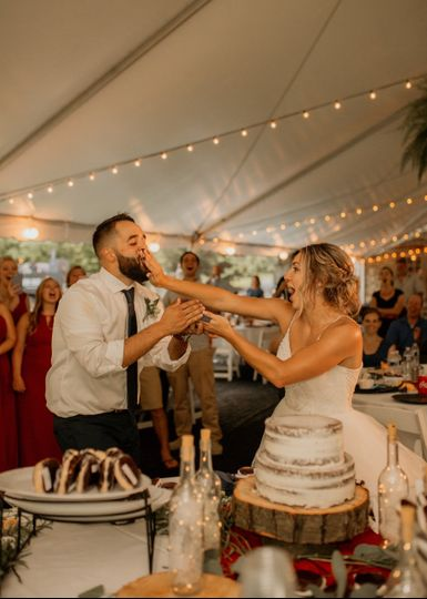 Cake Face From Rustic Wedding
