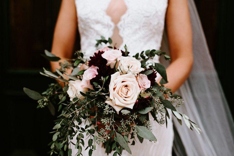 Burgundy & blush bouquet