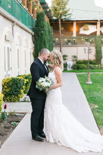 Couple's photo outdoors