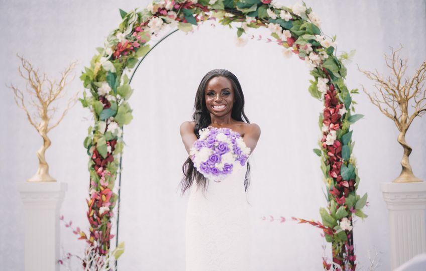 Beaming bride