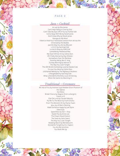 Song list pg 2