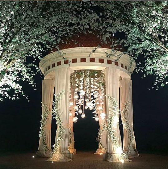 Rotunda Gleaming with Lights