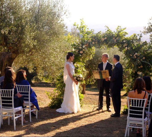 Al fresco wedding ceremony