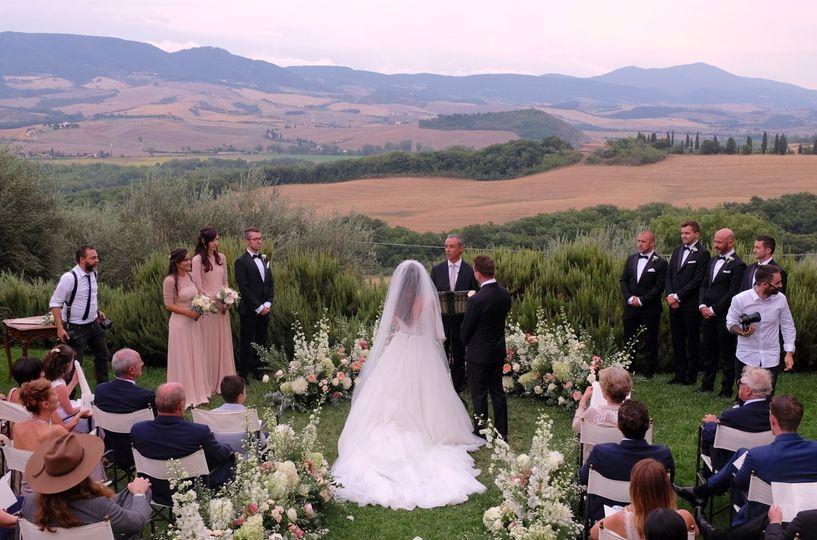 Gorgeous Tuscan backdrop