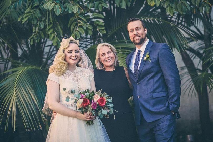 A leafy wedding