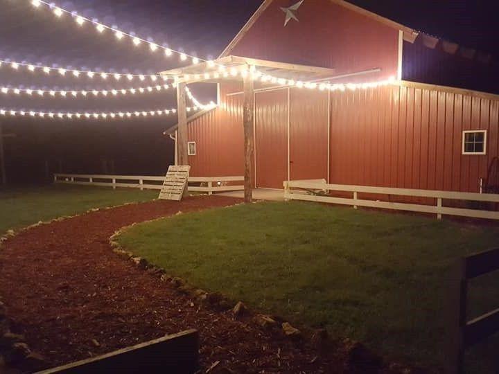 Tmx Lighted Barn From Walkway View 4 2019 51 1039255 1558023941 Ocklawaha, FL wedding venue