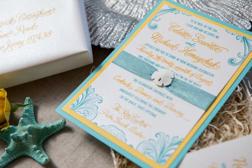 Sand Dollar Invitation