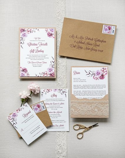 Rustic Lace Pocketcard