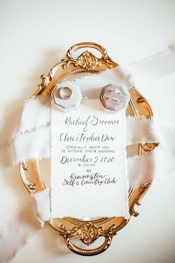 Hand written invitation