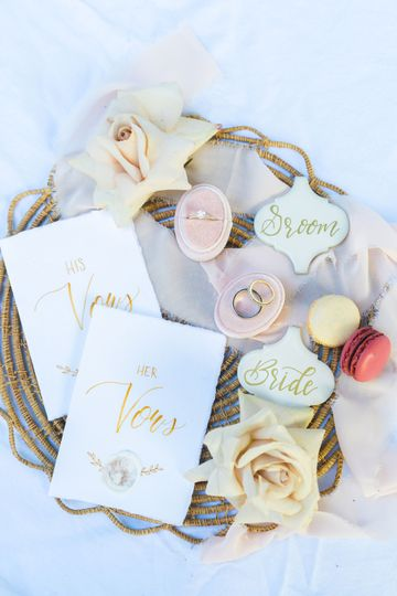Vow Booklets & Place Cards