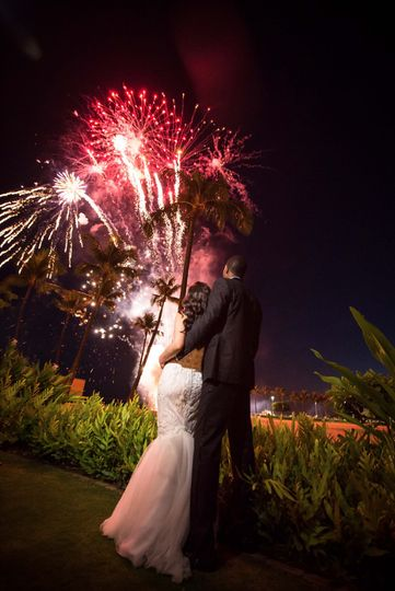 Wedding Fireworks - Waikiki Be