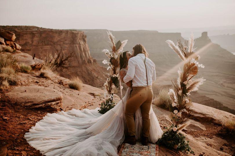 Sunrise desert elopement