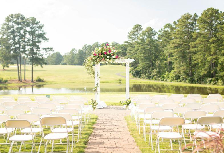 The outdoor wedding venue