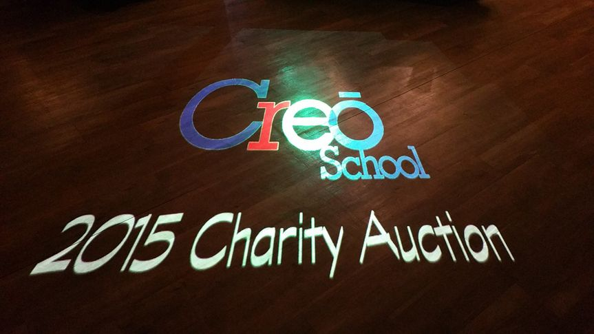 Custom made logo for companies and schools projected on floor or wall