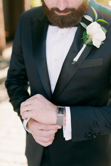 Groom Boutonniere- David Abel