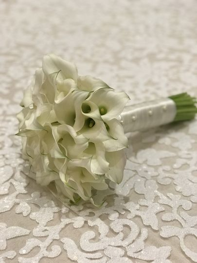 Brides Bouquet made with Cala Lily