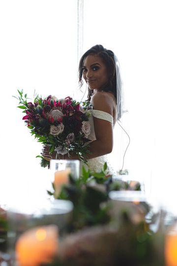 Crescent Bridal Bouqet