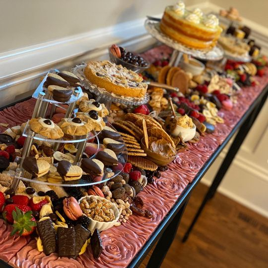 Reception dessert graze table