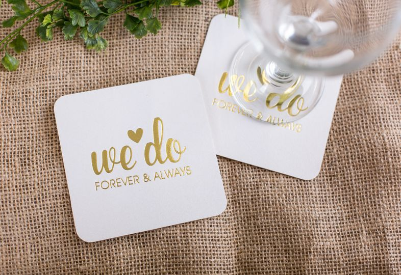 wedding coasters scaled down