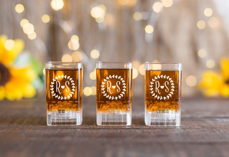 wedding shot glasses scaled down