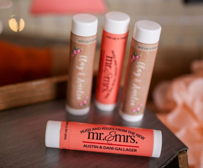 wedding lip balm scaled down