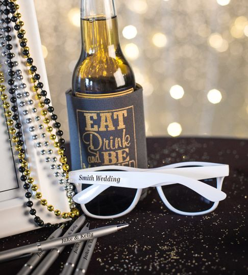wedding sunglasses koozie