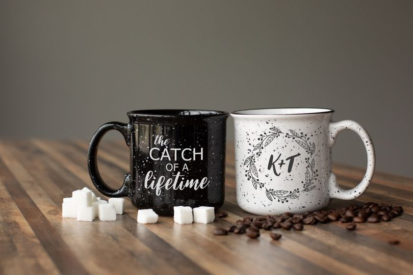 Custom wedding mugs