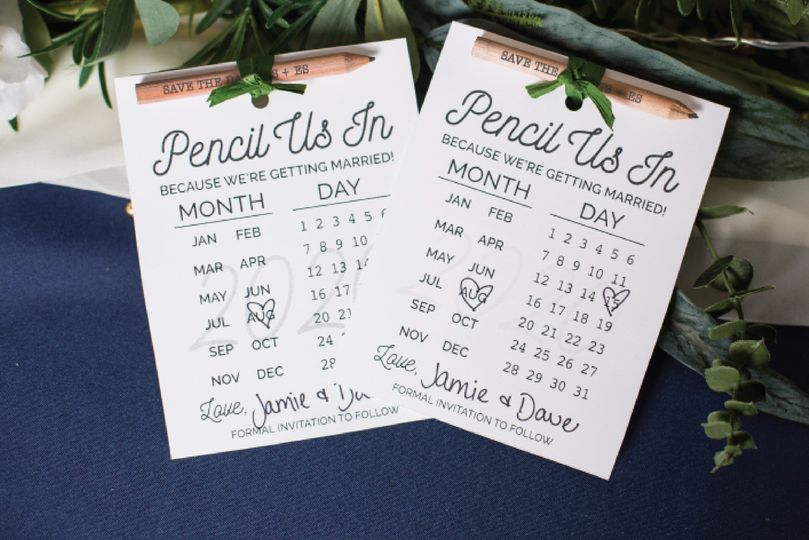 Save the date pencils + ideas